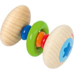 がらがら 木のおもちゃ 赤ちゃん レインボーラトル タッチリング|nicoly