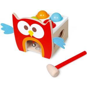 タップベンチ フクロウのルー 木製 男の子 女の子 知育玩具|nicoly