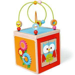 アクティビティ キューブ 木のおもちゃ ビーズコースター 子供 男の子 女の子の商品画像|ナビ