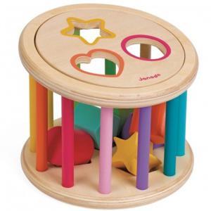 積み木 ブロック 木のおもちゃ ローリング・シェイプソーター|nicoly