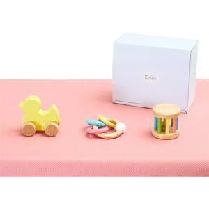ラトル がらがら おもちゃ 赤ちゃん ベビーギフト3点セット(アヒル)|nicoly