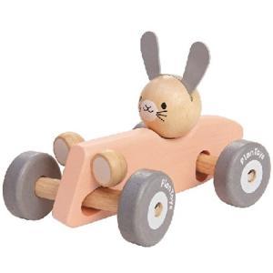 プラントイ バニーレーサー パステル 木のおもちゃ 木製 ベビー 男の子 女の子|nicoly