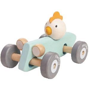 プラントイ チキンレーサー パステル 木のおもちゃ 木製 ベビー 男の子 女の子|nicoly