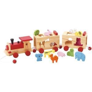 どうぶつパズル汽車 積み木 ブロック