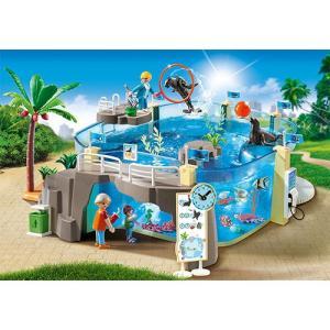 プレイモービル 水族館 ごっこ遊び 女の子 男の子 ミニチュア 子供 キッズ 幼児|nicoly