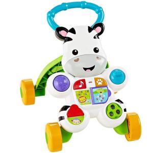 つかみやすい取っ手と安定した4つの車輪で、赤ちゃんのあんよの練習に最適。 押して歩くと楽しいおしゃべ...