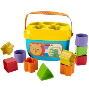 カラフルブロックを形あわせで入れて!小さな手に持ちやすくて遊びやすい!10種のカラフルブロックを並べ...
