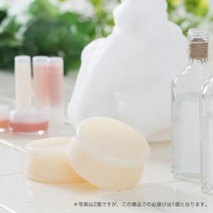 洗顔 石鹸 洗顔石鹸 洗顔料  乾燥肌 無添加 雪の泡せっけん(専用ネット付)|nicoly