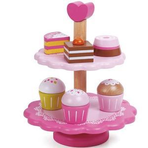 おままごと キッチン 木のおもちゃ カップケーキ スタンド nicoly