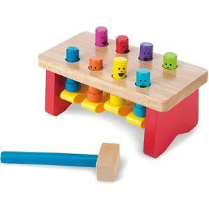木のおもちゃ 1歳 2歳 知育玩具 デラックス パウンディングベンチ|nicoly