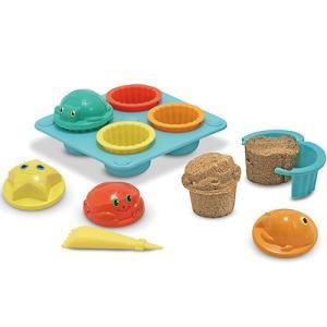 お砂場セット 型抜き 砂場 おもちゃ サンドカップ ケーキセット|nicoly