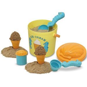 お砂場セット 型抜き 砂場 おもちゃ サンド アイスクリームセット|nicoly
