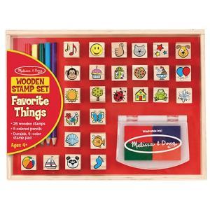 知育玩具 お絵かきセット フェイバリット シングス スタンプセット