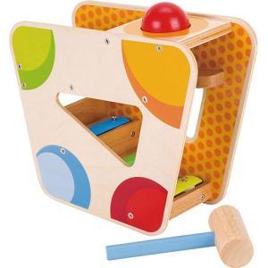 知育玩具 木のおもちゃ 赤ちゃん ハンマーゲーム ウィズ シロフォントラック|nicoly