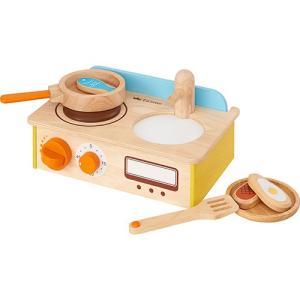 おままごと キッチン 木のおもちゃ ジュージューくるりん!キッチン nicoly