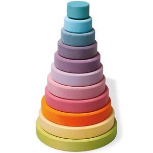 グリムス スタッキングタワー・パステル 知育玩具 木のおもちゃ|nicoly