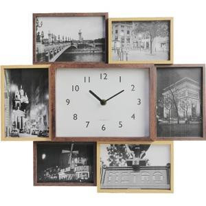 フォトフレーム 時計 スタンド 壁掛け 写真立て ビット セブン|nicoly