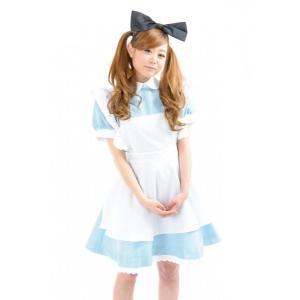 不思議の国からやって来た白い襟にライトブルーの可愛いメイド服♪ パニエの裾のレースがとってもキュート...
