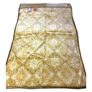 送料無料 温泉毛布 シルキームートン調2枚合せ毛布(ベージュ) 暖かい 日本製 シングル  niconicogenkimura 03