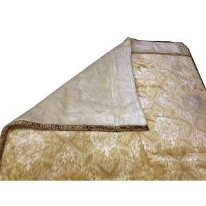 送料無料 温泉毛布 シルキームートン調2枚合せ毛布(ベージュ) 暖かい 日本製 シングル  niconicogenkimura 06