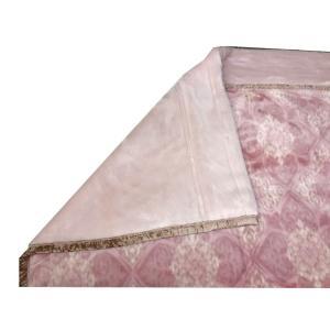 送料無料 温泉毛布 シルキームートン調2枚合せ毛布(ピンク) 暖かい 日本製 シングル|niconicogenkimura|06