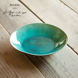 Riviera/リヴィエラ スーププレート25cm アズール ストーンウェア ポルトガル コスタ・ノバ costa-nova 食器 洋食器  中皿 深皿 パスタプレート おしゃれ|niconomanimani