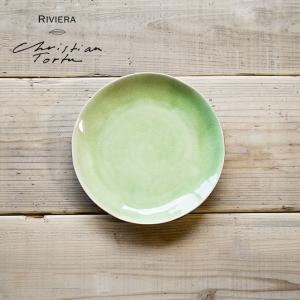Riviera/リヴィエラ サラダプレート21cm ヴェール・フレ ストーンウェア ポルトガル コスタ・ノバ costa-nova食器 洋食器 中皿 小皿 銘々皿 カフェ おしゃれ|niconomanimani