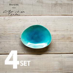 Riviera/リヴィエラ ブレッドプレート16cm 4枚セット ストーンウェア ポルトガル コスタ・ノバ costa-nova 食器 洋食器 小皿 取り皿 銘々皿 カフェ おしゃれ|niconomanimani