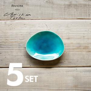 Riviera/リヴィエラ ブレッドプレート16cm 5枚セット ストーンウェア ポルトガル コスタ・ノバ costa-nova 食器 洋食器 小皿 取り皿 銘々皿 カフェ おしゃれ|niconomanimani