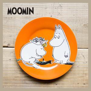 Moomin/ムーミン メラミンデザートプレート ムーミンオレンジ