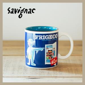 Raymond Savignac/レイモン・サヴィニャック マグ(フリジェコ冷蔵庫) 320ml 食器 カップ アート イラスト カフェ おしゃれ かわいい フランス ヨーロッパ|niconomanimani