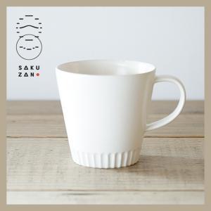 SAKUZAN/作山窯 Stripe マグカップ(ホワイト)|niconomanimani