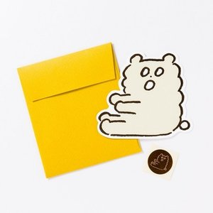 KUMA COFFEE/クマコーヒー グリーティングカード BREAK TIME CARD ちびくま|niconomanimani