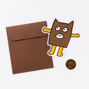 KUMA COFFEE/クマコーヒー グリーティングカード BREAK TIME CARD ブルビビ|niconomanimani