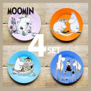 Moomin/ムーミン メラミンデザートプレート 4カラーセット|niconomanimani
