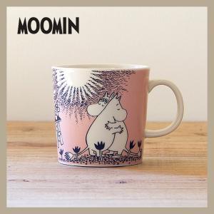 Moomin/ムーミン  ムーミン マグ 300ml ピンク Love  ARABIA/アラビア 旧ロゴ niconomanimani