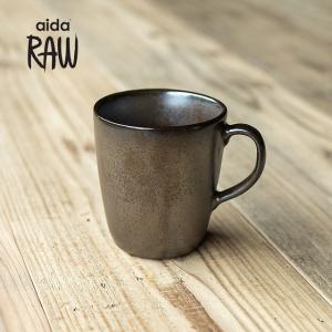 RAW/ロウ マグカップ メタリックブラウン ストーンウェア 北欧 食器 洋食器 和食器コップ カップ 湯のみ カフェ おしゃれ|niconomanimani