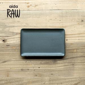 RAW/ロウ レクタングルプレートS 24cm ノーザングリーン ストーンウェア 北欧 食器 洋食器 和食器 小皿 中皿 角皿 カフェ おしゃれ|niconomanimani