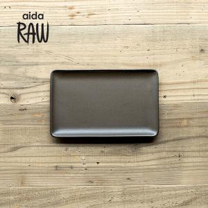 RAW/ロウ レクタングルプレートS 24cm メタリックブラウン ストーンウェア 北欧 食器 洋食器 和食器 小皿 中皿 角皿 カフェ おしゃれ|niconomanimani