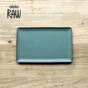RAW/ロウ レクタングルプレートL 32cm ノーザングリーン ストーンウェア 北欧 ワンプレート 洋食器 和食器 大皿 角皿 カフェ おしゃれ|niconomanimani