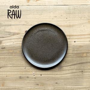 RAW/ロウ デザートプレート 21cm メタリックブラウン ストーンウェア 北欧 食器 洋食器 和食器 中皿 小皿 取り皿 銘々皿 カフェ おしゃれ|niconomanimani