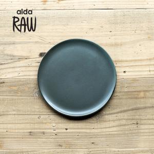 RAW/ロウ デザートプレート 21cm ノーザングリーン ストーンウェア 北欧 食器 洋食器 和食器 中皿 小皿 取り皿 銘々皿 カフェ おしゃれ|niconomanimani