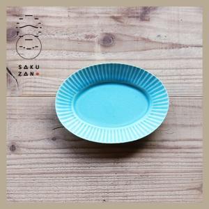 SAKUZAN/作山窯 Stripe オーバルミニ 小皿|niconomanimani