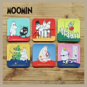 Moomin/ムーミン ビビットカラーのシリコンコースター 6枚セット|niconomanimani