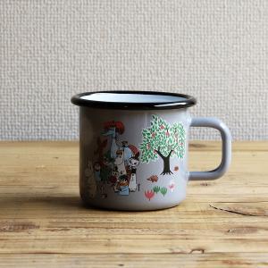 Moomin/ムーミン ムーミンマグ ガーデン グレー|niconomanimani