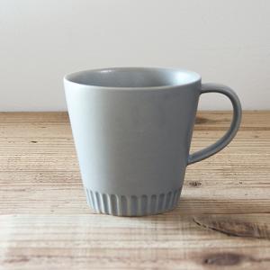 SAKUZAN/作山窯 Stripe マグカップ(グレー)|niconomanimani