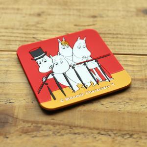 Moomin/ムーミン ビビットカラーのシリコンコースター ムーミン一家|niconomanimani