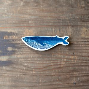 KATA KATA 倉敷意匠計画室 印判手豆皿 クジラ|niconomanimani