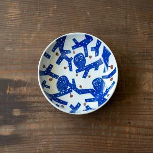 KATA KATA 倉敷意匠計画室 印判手なます皿(ふくろう)|niconomanimani
