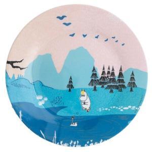 Moomin/ムーミン Ratt Start  メラミンプレートNORDIC SUMMER SKIE ピンク  プレート キッズ 食器 メラミン食器 メラミン 皿 ムーミン moomin 北欧 原画|niconomanimani